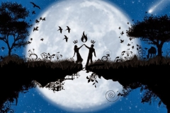 Love-pair-dance-in-moon-light-PSD-template-HD-images