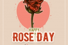 rose day wish image for love